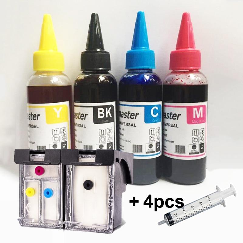 Vilaxh 304xl Refillable Ink Cartridge Replacement For HP 304 Xl Deskjet 2620 2630 2632 3720 3730 Envy 5010 5030 5020 Printer