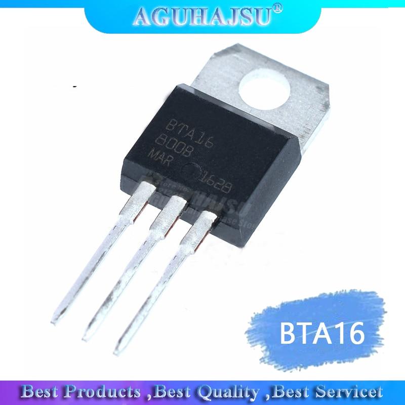 10pcs  BTA16-600B BTA16-600 BTA16 Triacs 16 Amp 600 Volt TO-220 molewei new original