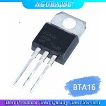 10 pces BTA16-600B BTA16-600 triacs bta16 16 amp 600 volt para-220 molewei original novo