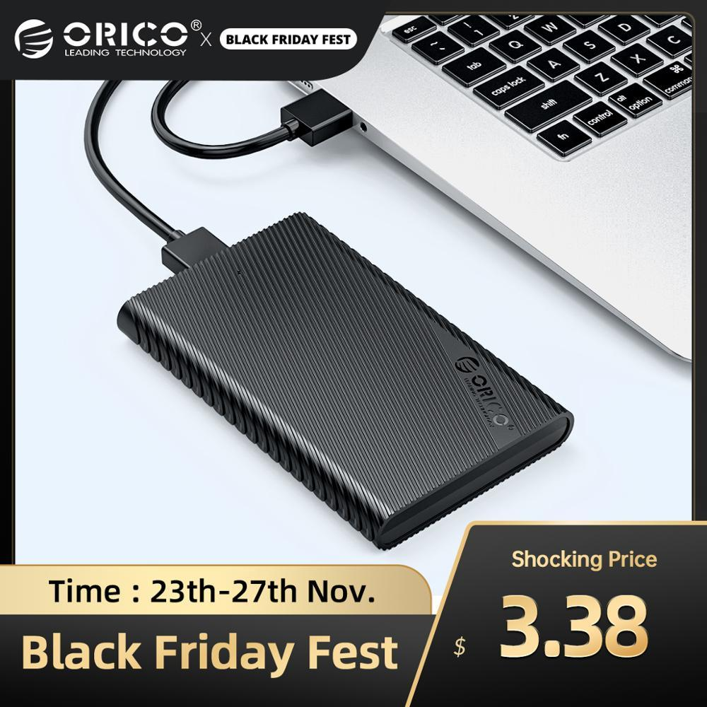 ORICO 2.5 inch Externl HDD Case 5Gbps USB3.0 HDD SSD Adapter with Auto Sleep UASP 4TB HDD Enclosure