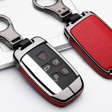 Couro inteligente caso capa chave do carro para land rover a9 freelander evoque discovery 4 5 esporte lr4 jaguar xk xkr xf xj xjl estilo