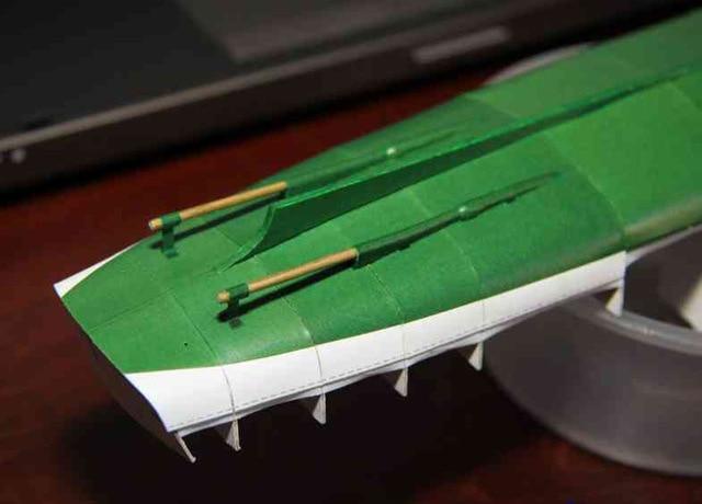 1:100 40cm Poland Ferry Ship Fine DIY 3D Paper Card Model Building Sets Construction Toys Educational Toys Military Model 2