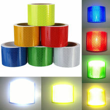 цена на Multicolor Silver White Reflective Safety Warning Conspicuity Tape Film Sticker