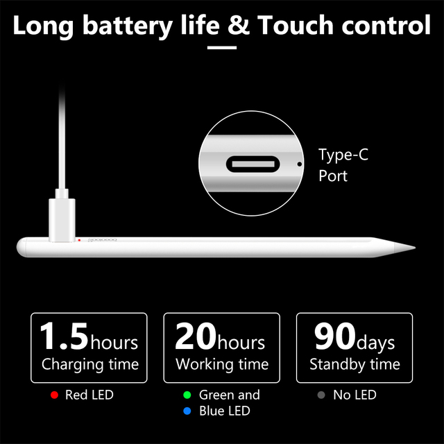 For iPad Pencil Stylus Pen for Apple Pencil 1 2 Touch Pen for Tablet IOS Android Stylus Pen for iPad Xiaomi Huawei Pencil Phone 4