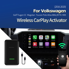 Carlinkit 2.0 carplay sem fio para volkswagen 2016-2020 carplay 2 adaptador de ar ativador usb dongle para apple iphone ios 13 2.0