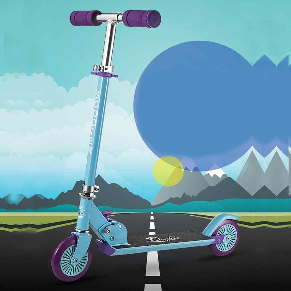 Piede Scooter calcio Pieghevole Freestyle Street Skate Ciclo Hoverboard Skateboard Regolabile 2 Ruote 120 millimetri Bambini Della Ragazza del Ragazzo Regalo
