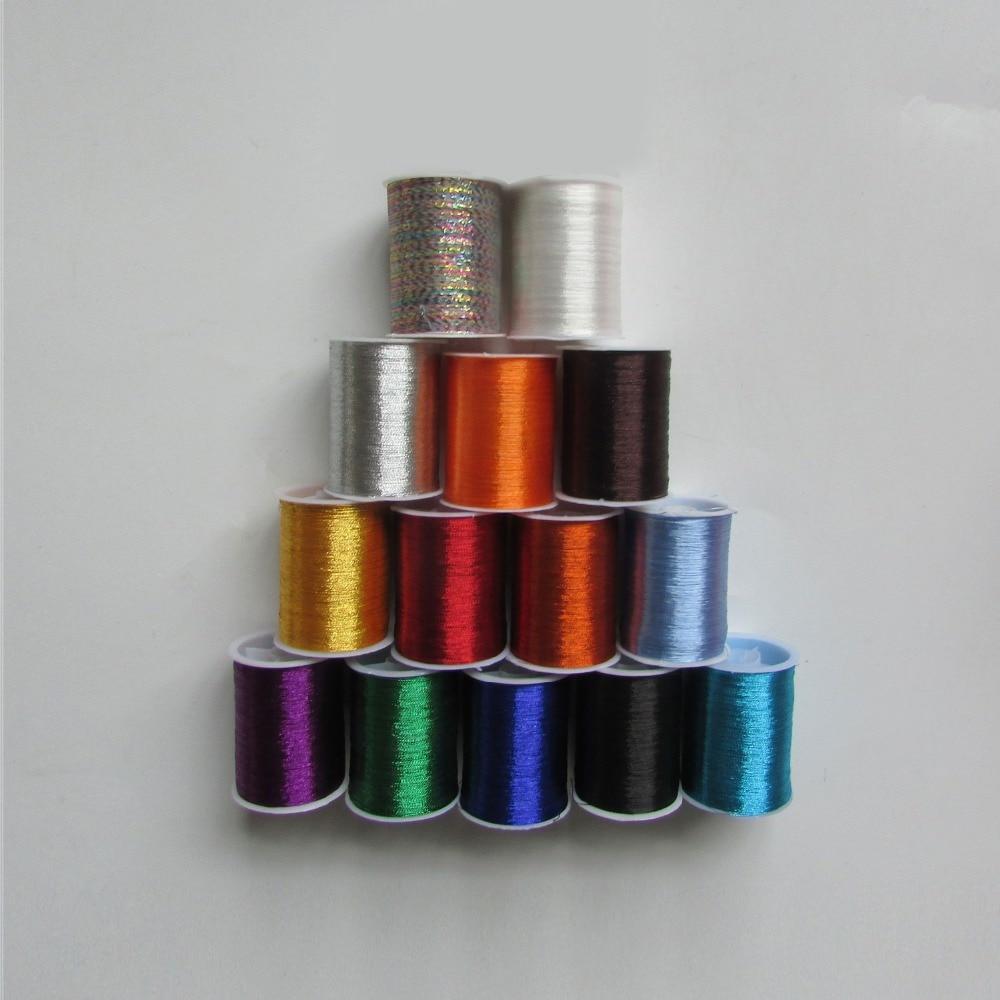 Металлическая нить для вышивки, аксессуары для одежды DIY, основные 15 видов цветов на выбор, нить для шитья, 1 шт - Цвет: One for each color