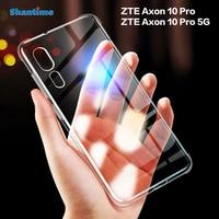 Funda para ZTE Axon 10 Pro, carcasa ultrafina, transparente y suave de TPU para ZTE Axon 10 Pro 5G Couqe, Funda para ZTE Axon 10S Pro