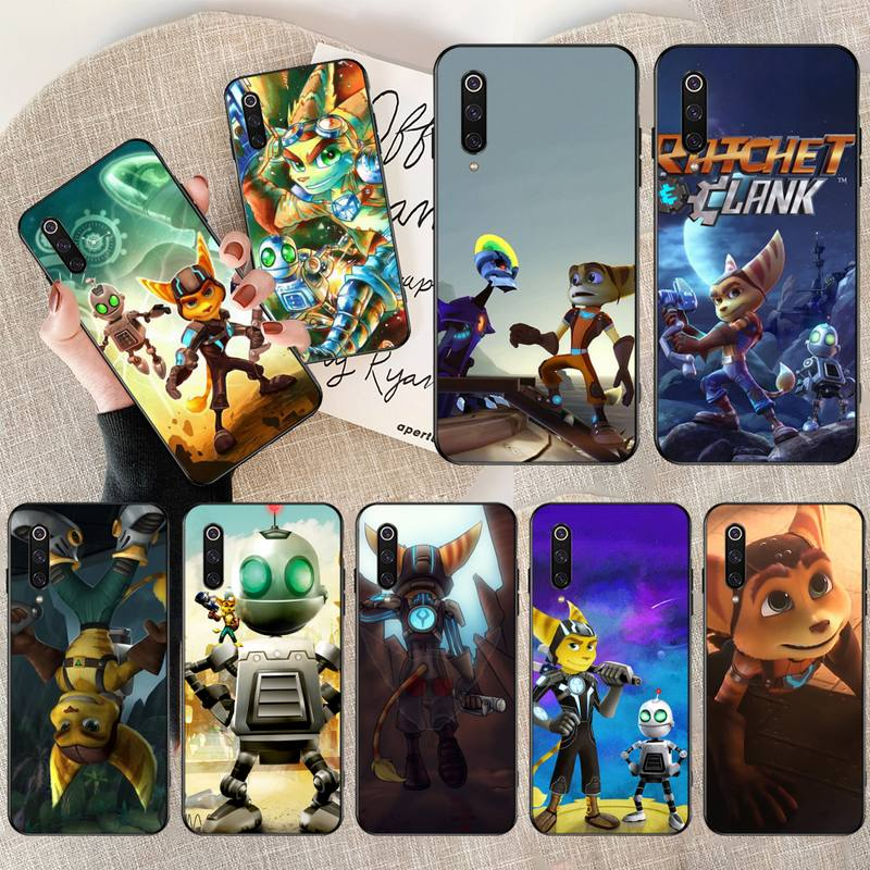 HPCHCJHM Ratchet & Clank Insomniac Games Cover Black Soft Shell Phone Case for Xiaomi Mi9 9SE 8SE Pocophone F1 Mi8 Lite image