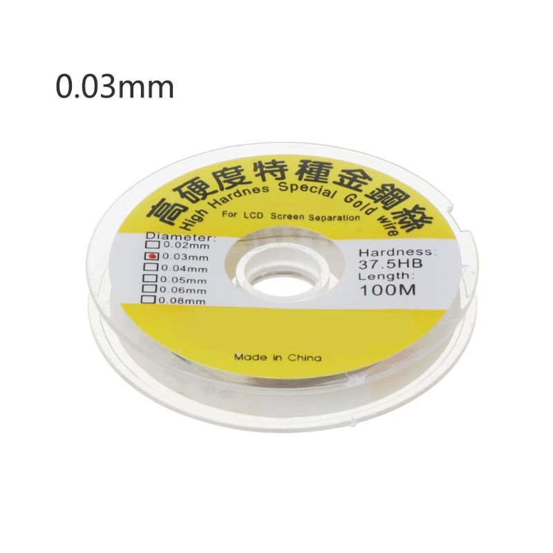 Drop Shipping 100m Alloy Gold Molybdenum Wire Cutting Line LCD Display Screen Separator Repair