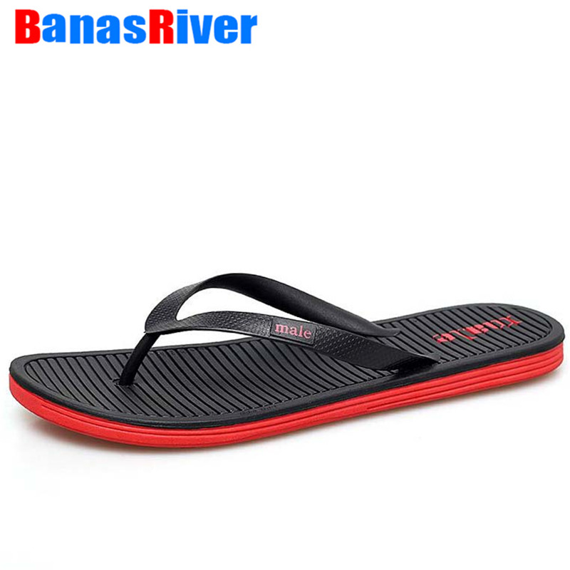 Flip-Flops Casual-Shoes Anti-Slip Beach-Flip Big-Size Summer Men Flat High-Quality Zapatos title=