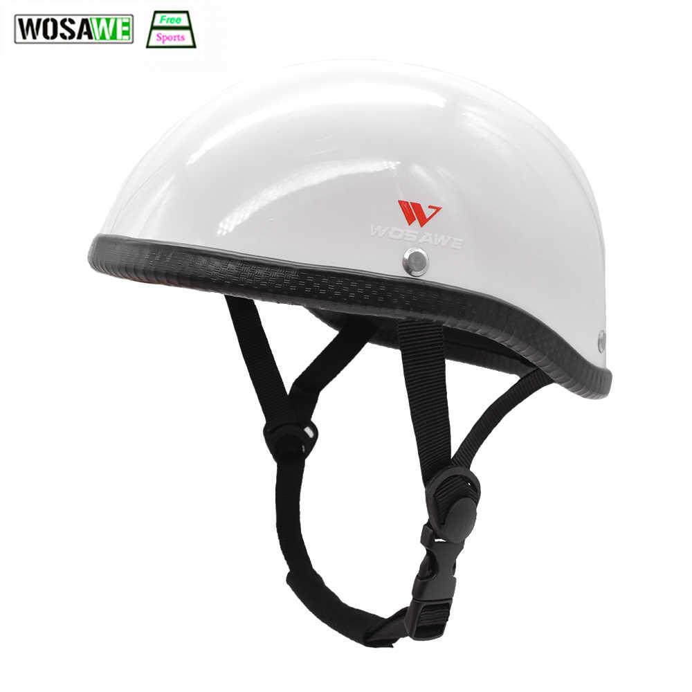 WOSAWE רכיבה על אופניים חצי פנים קסדת בטנה קלה בציר רטרו אופני קטנוע מסוק בטיחות ראש מגן Motobike חצי קסדה