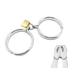 Pretend spielen metall manschetten mit schlüssel bondage schloss metall handschellen slave restraint BDSM werkzeug sex spielzeug cosplay spiel für weibliche