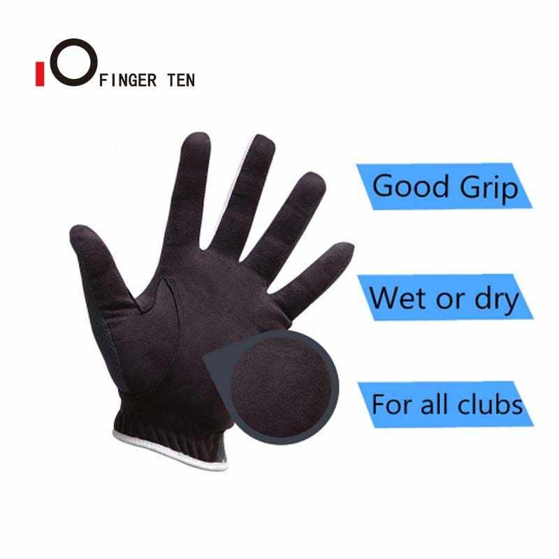 Yağmur kavrama sıcak islak yağmur hava erkekler Golf eldiven sol sağ el paketi nefes golfçü Lh Rh egzersiz dayanıklı değer yumuşak kavrama 1 adet