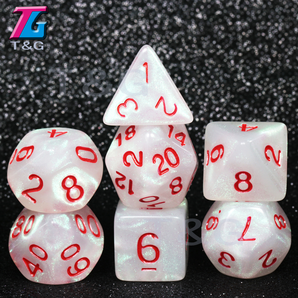 New Arrival! Dice 7 For D&d Game  D4 D6 D8 D10 D12 D20 Dice Set Gift Toy DND RPG Dice Christmas Gift Dice