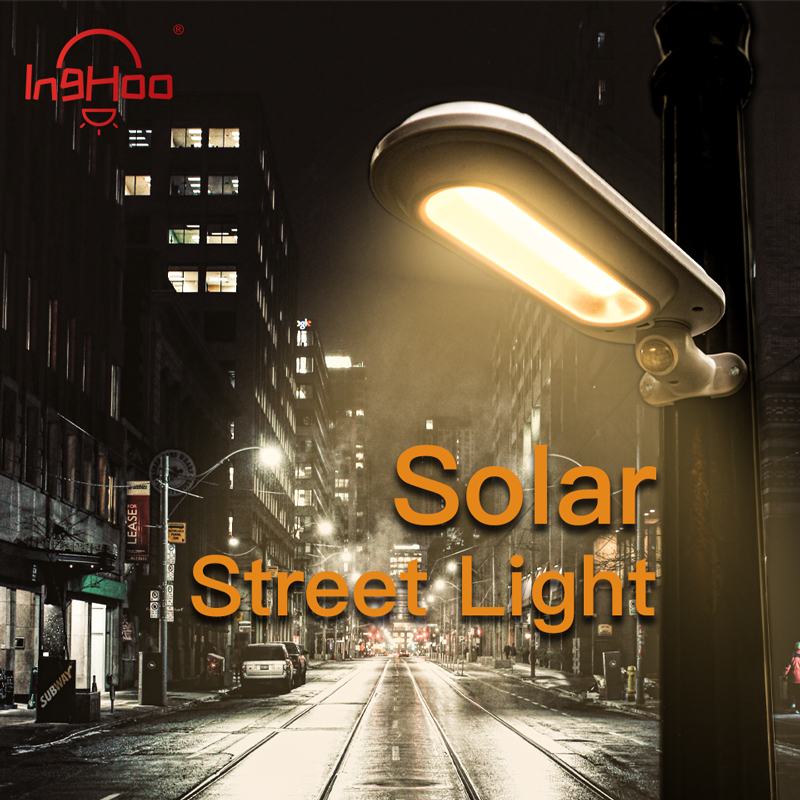 IngHoo Solar Street Light Outdoor Wireless Waterproof Wall Light Motion Sensor Garden Garden Stair Aisle Safety Night Lighting