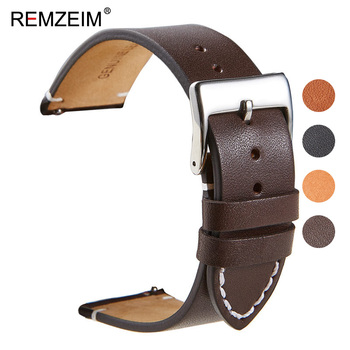 18 20 22 24mm Calfskin Leather Watch band Strap for Amazfit Huawei GT Galaxy 42 46mm Gear S3 WatchBand Quick Release - discount item  80% OFF Watches Accessories