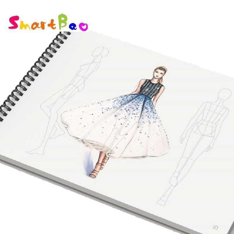 A5 Fashion Designer Notebook For Teenager Fashion Illustration Book Drawing Dotted Line Body Designer Workbooks 82 Sheets Paper Design Sketchbooks Fashion Sketchbooksketchbook Designer Aliexpress