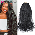 Самкоса 18-дюймовые косички кудрявые синтетические волосы для наращивания черные косички для женщин