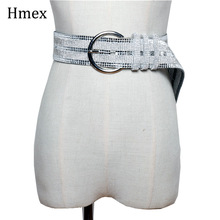 New luxury womens rhinestone belts Fashion Shiny Diamond Crystal Waistband Female PVC Clear Belt Bride Wedding Waist Chain