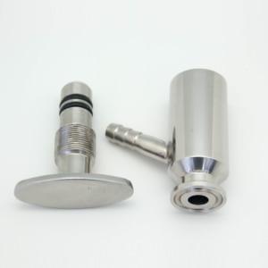 """Image 3 - QiiMii 1.5"""" Sanitary Ferrule Tri Clamp Type Food Medicine Elliptic Sampling Valve Stainless Steel SS304 Clamp Sample Valve"""