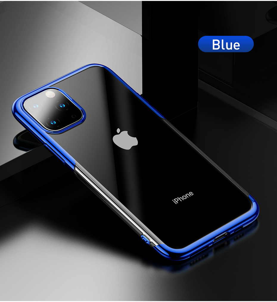 Baseus Luxury Silicone Case For iPhone 11 Pro Case For iPhone 11 Pro MAX Case Phone Protective Case Back Coque Cover Case