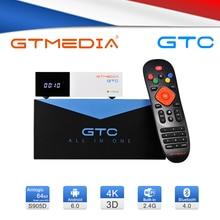 GTmedia GTC مستقبلات DVB S2 DVB C DVB T2 ISDBT Amlogic S905D الروبوت 6.0 التلفزيون مربع 2GB 16GB الأقمار الصناعية استقبال التلفزيون مربع فك