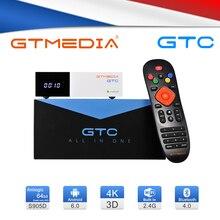 GTmedia GTC приемное устройство DVB S2 DVB C DVB T2 ISDBT Amlogic S905D android 6,0 TV BOX 2 Гб оперативной памяти, 16 Гб встроенной памяти цифра спутниковый телевизионный ресивер ТВ Декодер