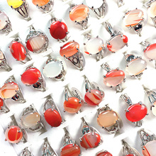 20pcs Rings Oval Shape Natural Stone Red Agated for Charms Jewelry Rings for Women Free Shipping The Inside Diameter of 18-20mm abraham ashley inside the stone