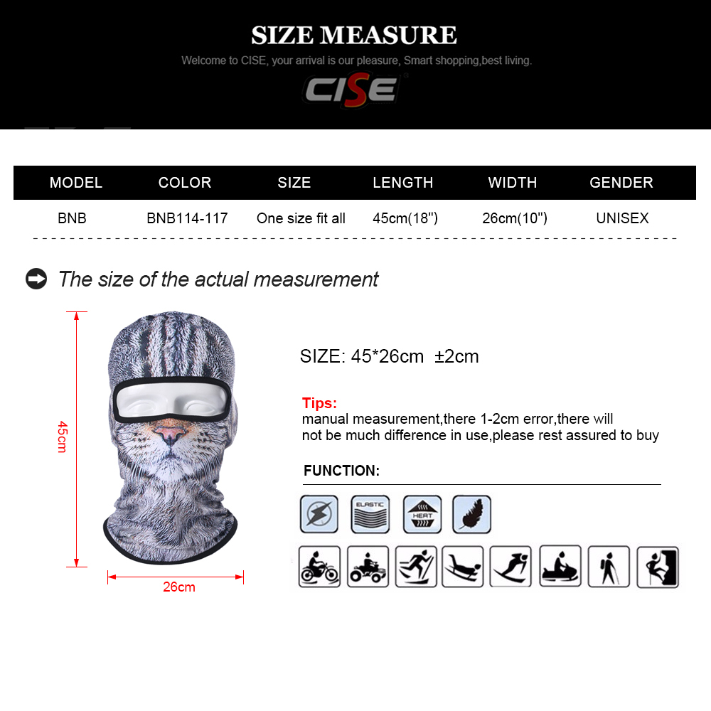 Image 2 - Balaclava Motorcycle Full Face Mask 3D Animal Cat Dog Hats Helmet Windproof Airsoft Paintball Snowboard Cycling Ski Halloween-in Motorcycle Face Mask from Automobiles & Motorcycles