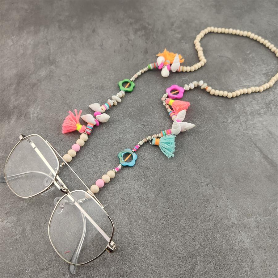 Boho Beads Eyeglass Chains With Shell Tassel Metal Sunglasses Reading Glasses Chain Eyewears Cord Holder Neck Strap Rope