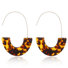 U shape Acrylic drop Earrings for women  bohemian Acetate geometric pendant earrings