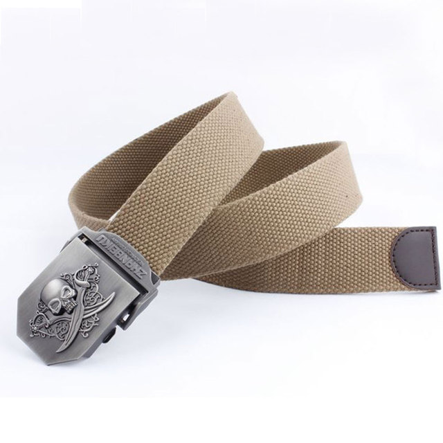 SKULL THEMED CANVAS BELT (30 VARIAN)