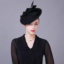 Шляпы для женщин шляпа-таблетка хаки Войлок Винтаж цветок Свадебные Дамы Дерби шляпка для церкви#3