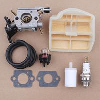 Conjunto do Filtro de Combustível de Ar Do carburador para Husqvarna 445 450 445E 450E C1M-EL37B CS2245S 506450401 ZAMA Motosserra JONSERED