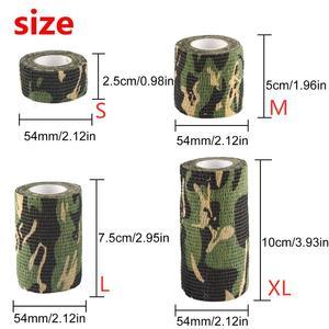 Image 2 - 6 ロール屋外迷彩テープ迷彩ラップ自己粘着テープ保護不織布ストレッチ包帯