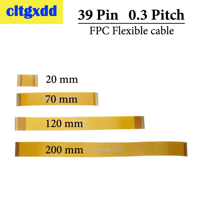Cltgxdd Gold Plated 0.3 Mm Pitch 39P FPC Cable Spacing 0.3mm 39Pin FPC FFC Connector Flexible Flat Cable Line 20 70 120 200 Mm