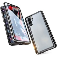 Magnetic Metal Double Side Glass Phone Case For Huawei Honor P40 P30 P20 8X 9X 10 20 30 X10 Mate 20 Lite Pro P Smart 2019 Cover