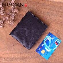 EUMOAN Small wallet men and women short section leather suede retro art Sensing purse tide