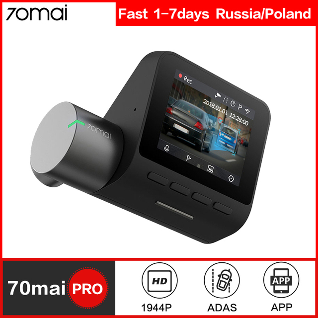 70mai דאש מצלמת פרו GPS ADAS מהירות & קואורדינטות רכב DVR מצלמה Wifi 1944P HD קול שליטה 70 מאי dashcam 24H חניה צג