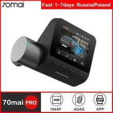 70mai kamera na deskę rozdzielczą Pro GPS ADAS prędkość i współrzędne kamera samochodowa Wifi 1944P HD sterowanie głosem 70 Mai Dashcam 24H Monitor do parkowania