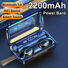 F9 5 TWS Wireless Headphones Bluetooth Earphone Mini In ear Sports Headset Touch Control Earbuds Microphone блютуз наушники