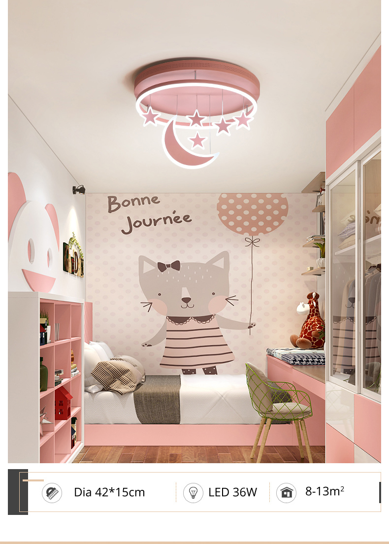 Hd1291db272ce41eb9612f32ea0e621e0Y Wall Mounted Lights | Surface Mount LED Lights | New Ceiling Lights Girl Children Room Bedroom Modern LED Lighting Surface Mount Remote Control Indoor Lamp Lampara Techo 001