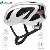2020 Smart4u Outdoor SH55M 6 LED Warning Light Smart Cycling Bicycle Back Lamp Helmet Motorcycles Helmet SOS Alert Walkie Talkie