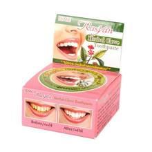 Natural herbal cravo tailândia dentífrico dente branqueamento dentífrico pasta de dente antibacteriano hortelã oral limpo novo