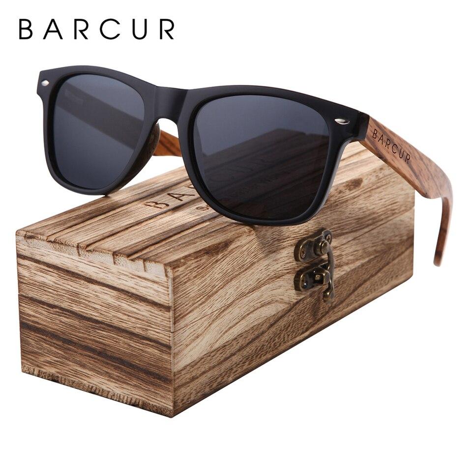 Handmade Zebra Wood Polarized Sunglasses Square Wood Frame Retro Eyewear New