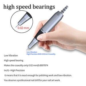 Image 4 - Электрическая пилка для ногтей, 32 Вт, маникюрный прибор, 35 000 об/мин, набор инструментов для ногтей с медной ручкой, электрическая пилочка для ногтей с резцом