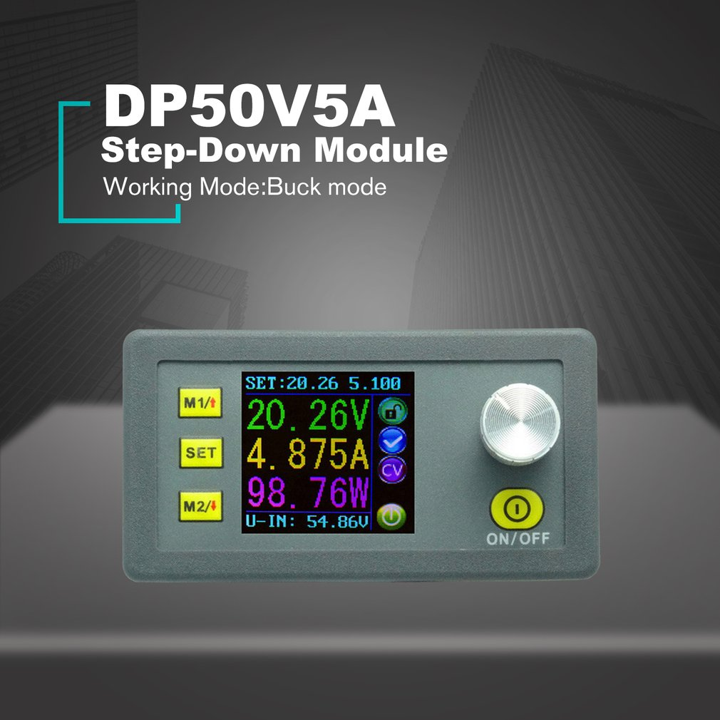 DP50V5A Constant <font><b>Voltage</b></font> Current Step-down Programmable Power Supply Module Buck <font><b>Voltage</b></font> Converter Regulator Color LCD image