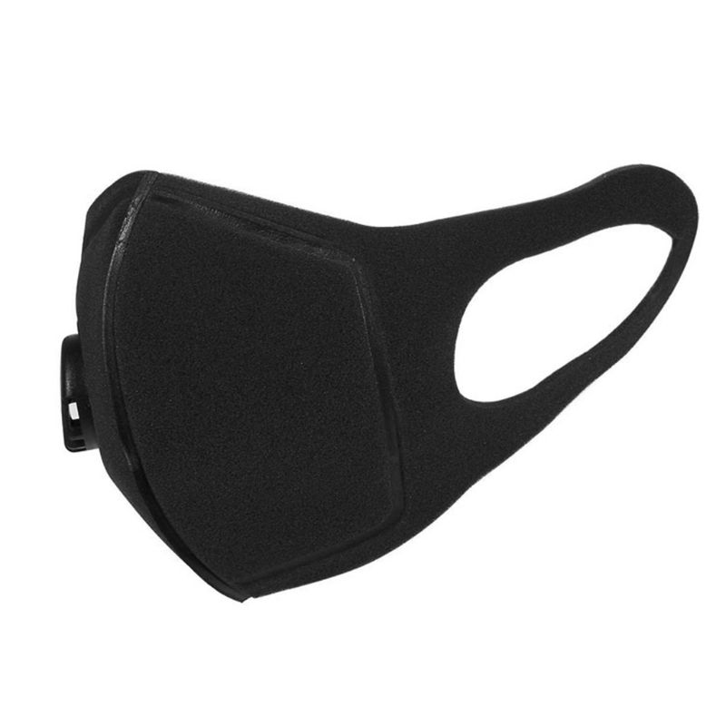 Unisex Sponge Dustproof PM2.5 Pollution Half Face Mouth Mask Reusable Muffle Respirator   With Breath Valve Wide Straps