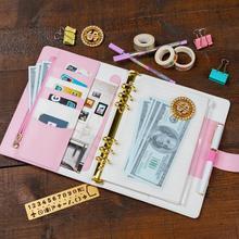 Harphia A5 Binder Zipper Planner Travel Journals Pink Budget Spiral Notebook Macaron Diary Agenda Personal Organizer